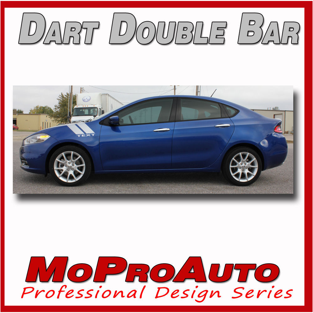 2013 Dodge Dart DOUBLE BAR / Hood Fender Hash Side Decals Graphics 3M Vinyl 91T