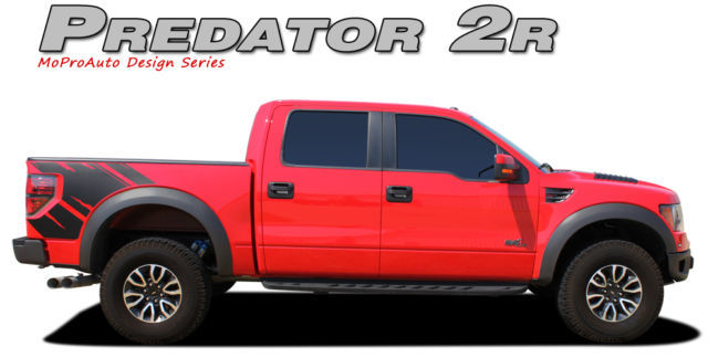 PREDATOR FORD Only 2011 Raptor Style Decals Stripes Graphics- 3M Pro Vinyl 28F