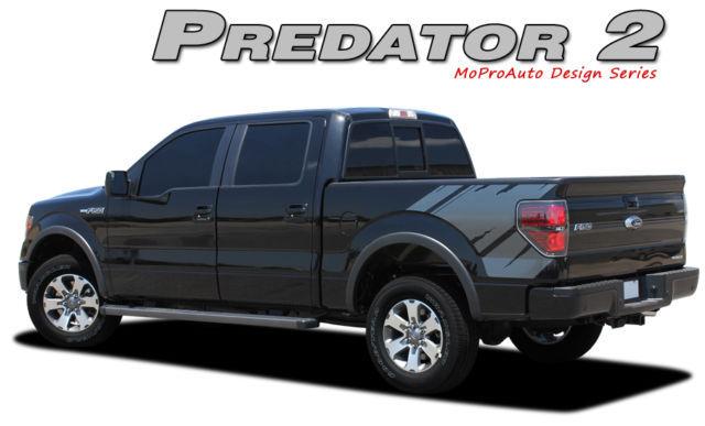 2011 PREDATOR Raptor Style Decals FORD F-150 Stripes Graphics- 3M Pro Vinyl R45