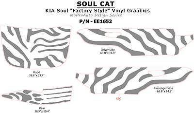 KIA SOUL CAT 3M Pro Vinyl Hood GRAPHICS Stripes Decals * 2010 429 by MoProAuto