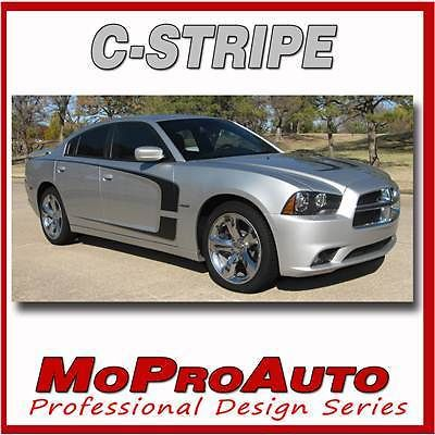 2012 Dodge Charger C-STRIPE - Pro Grade 3M Vinyl Scallop Side Decals 305