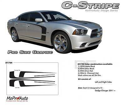 2012 Dodge Charger C-STRIPE - Pro Grade 3M Vinyl Scallop Side Decals 305