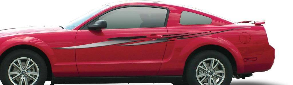 REFLECTION Vinyl Graphics Decals Stripes Truck Dodge Chevy Ford Mustang Sport