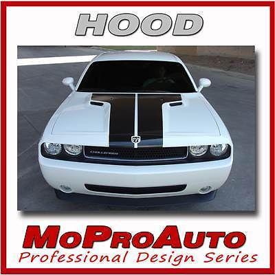 2010 Dodge Pro Grade 3M Vinyl CHALLENGER HOOD Vinyl Graphic Decals Stripes 353