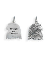 Strength and Courage Sterling Silver Eagle Pendant - $46.97