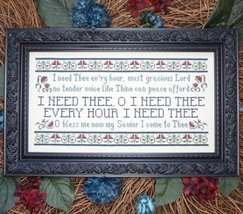 I Need Thee Every Hour MBT148 cross stitch chart My Big Toe Designs - $8.00