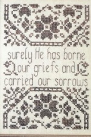 Griefs and Sorrows MBT150 cross stitch chart My Big Toe Designs