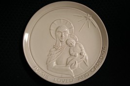 Vtg 1974 Frankoma Pottery~She Loved And Cared~Christmas Plate~By Joniece... - $11.97