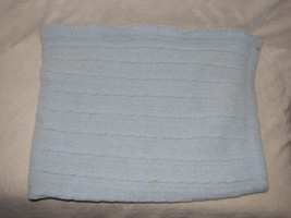 Circo Target Lovey Security Plush Blanket Light Blue Knit Cable Chenille... - $1.082,42 MXN