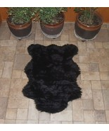 "3'5"" x 4' 6"" Faux Fur Black  Bear Rug, Fake Bear Rug, Fake Bearskin - $54.00"