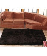 "6' 8"" x 4' 6"" Dark Brown Faux Fur Area Rug, Fake Fur Area Rug w/non skid backing - $149.99"
