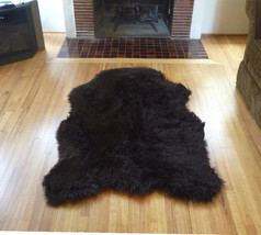 Faux Fur Brown Bear Rug from France, 3 x 5 Fake Bear Rug, with non-skid backing - $59.99