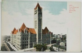 MN Court House and City Hall Minneapolis no.2073 Curt Teich Postcard P1 - $9.95