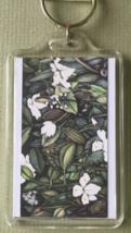 Large Floral/Bird Art Keychain - Birdland - $8.00
