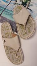 7 Strap M size Women T Born Cream Shoes Leather Tai GUC Slide Sandal nZYgY0q8