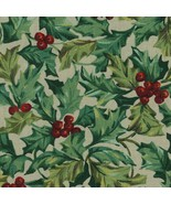 Longaberger Bagel Basket Liner ~ American Holly Fabric - $14.64