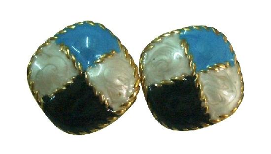 Flattering Earrings Awesome Combo Black White & Blue
