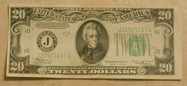Series 1934 B Twenty Dollar Federal Reserve Note. Almost Uncirculated!!!... - $48.33