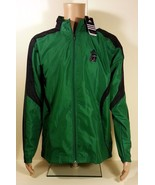 NEW Men's Adidas Wind Jacket w/ Hood Drive Warmup Jacket Green Navy MSRP... - $29.05