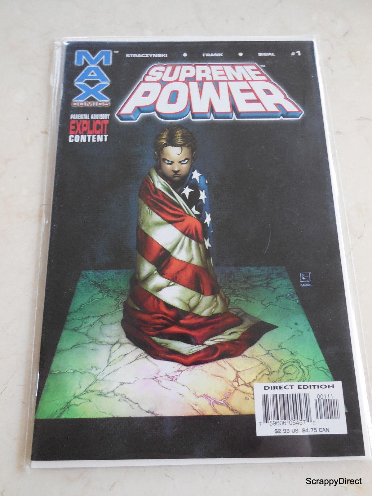 Marvel Max SUPREME POWER Vol #1 NO. #1 OCT 2003