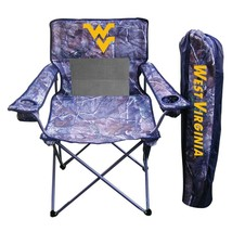 Rivalry Collegiate Realtree Camo Chair, West Virginia, 23L x 23W x 35H in. - $71.99