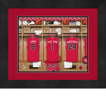 Personalized Chicago Bulls 12 x 16 Locker Room Framed Print - $63.95