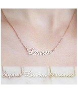 Custom Name Necklace Gold Silver Rose Gold Plated Personalized Pendant G... - $10.27