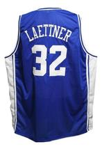 Christian Laettner #32 Custom College Basketball Jersey New Sewn Blue Any Size image 2