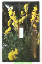 Yellow Flowers flower Light Switch Outlet wall Cover Plate Home decor image 1