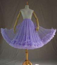 Women's Tulle Ballerina Skirt Purple Layered Tulle Skirt Puffy Tutu image 4