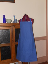 Tardis Blue Canvas Apron with Pockets - Adult Large Size 18-20 - $25.00