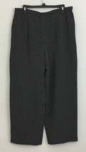Talbots Petites Black Ikat Pattern Dress Pants sz 16 - $22.76