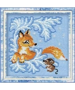 Fox Club  Kit winter 15ct aida cross stitch kit Riolis  - $13.50