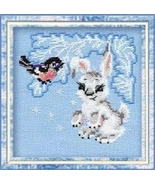 Leveret Kit winter 15ct aida cross stitch kit Riolis  - $13.50