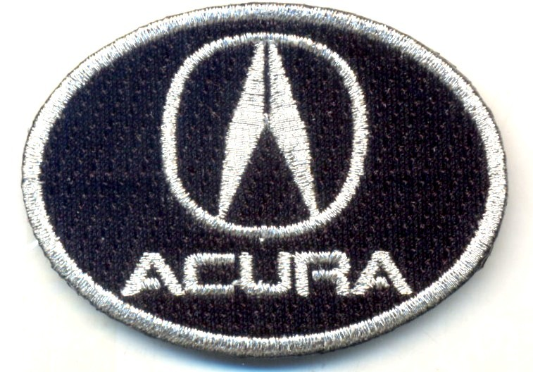 ACURA   iron on 100% embroidered embroidery patch PATCHES 2 INCHES RACING TL