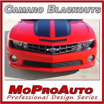 BLACKOUT 2012 Camaro Decals Stripes Graphics FRONT SS / 3M Pro Vinyl 275