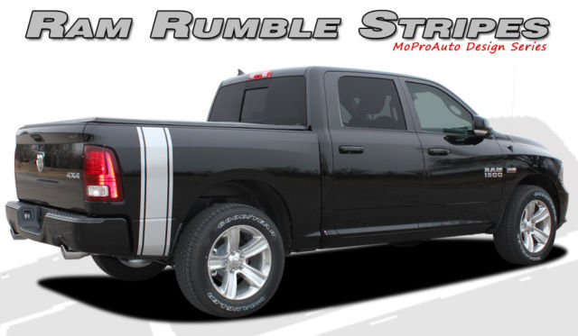 Dodge 2009 Ram Rumble Truck Bed Panel Vinyl Graphics Decals - 3M Pro Stripes P02
