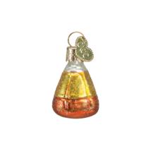 OWC MINIATURE HALLOWEEN CANDY CORN GLASS HALLOWEEN ORNAMENT 26027 E - $8.88