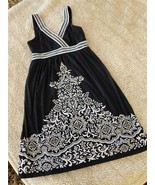 INC INTERNATIONAL CONCEPTS Black & White Sundress w/Sequin Bead Trim Lad... - $9.90