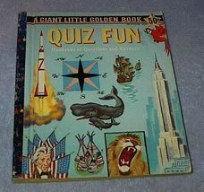Quiz Fun #5024 Giant Little Golden Book 1959 A printing - $9.95