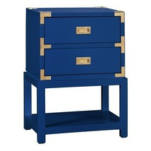Tansu Campaign Style Chest, 2 Drawers, BLUE Lac... - $989.00