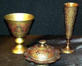 Vase, Chalice & Candle Holder AB 551 Vintage Etched