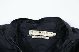 Vintage 90s Tommy Hilfiger Damen 2XL Spell Out USA Flagge Windjacke Blau image 4