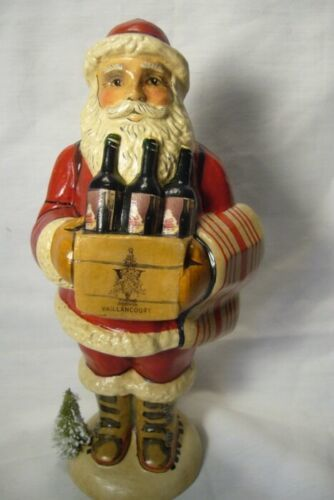 Vaillancourt Folk Art, Vaillancourt Wine Santa Signed by Judi
