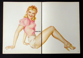 Vargas Lot 5 Smokin Hot PIN-UP Girl Centerfold Posters Of 1945 Esquire Paintings - $28.91