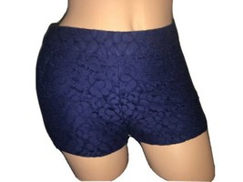 EUC Forever 21 Floral Blue Lace Mini Short Casual Side Zip Shorts Size S... - $16.88