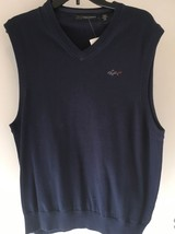 Greg Norman V Neck Sweater Vest SIZE S NWT Surf Blue - $20.29