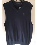 Greg Norman V Neck Sweater Vest SIZE S NWT Surf Blue - $20.29
