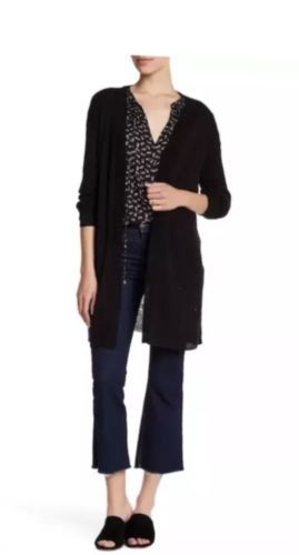 NWT SUSINA Nordstrom Knit Long Sleeve Sweater Cardigan Black Sz Ex Large