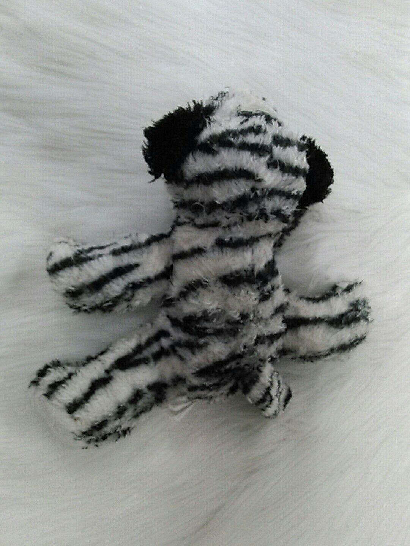 "10"" Fiesta Jungle Cubs Tiger Black White Beanbag Floppy Blue Eyes Plush Toy B205"